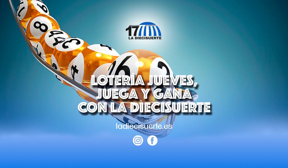 Lotería del jueves, gana con La Diecisuerte