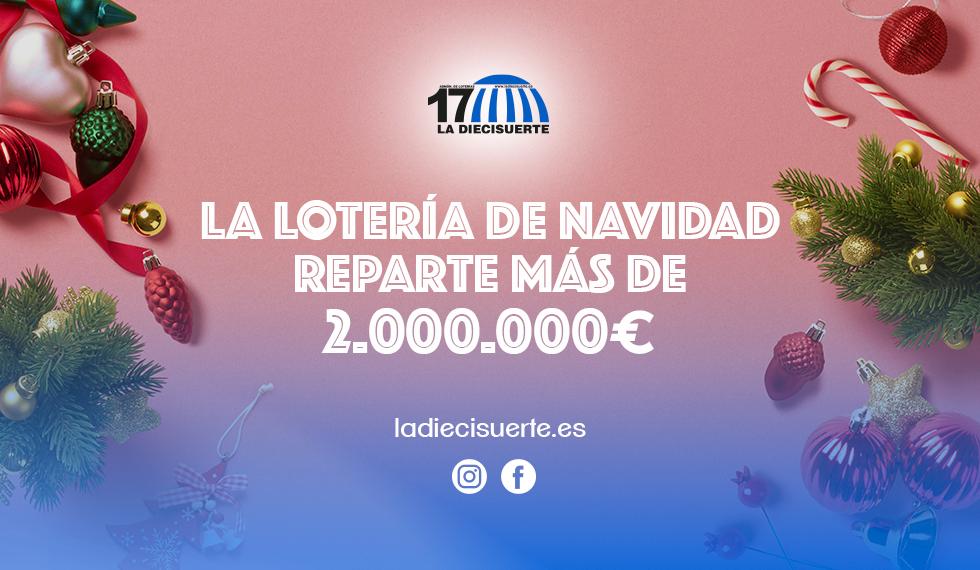 La Lotería de Navidad reparte más de 2.000.000 €